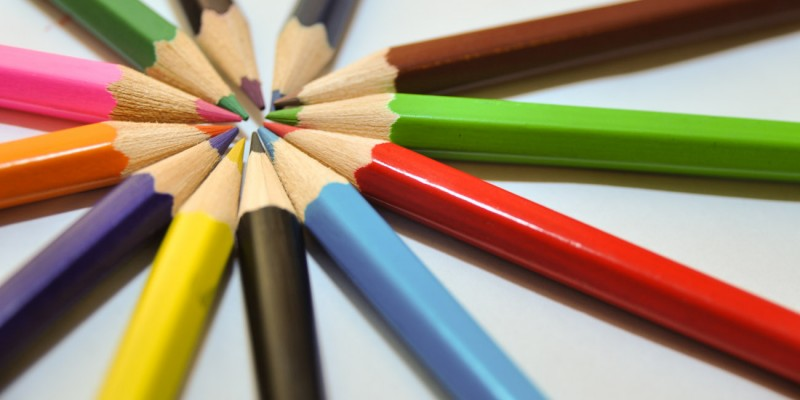 Pencils in a round shape